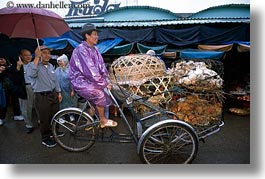 asia, asian, bicycles, horizontal, hue, men, people, rickshaw, riding, vietnam, photograph