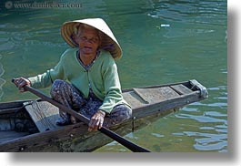 asia, asian, boats, clothes, conical, hats, horizontal, hue, old, people, senior citizen, vietnam, womens, photograph