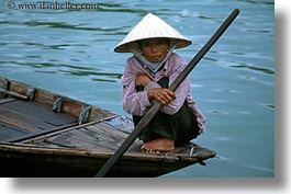 asia, asian, boats, clothes, conical, hats, horizontal, hue, people, senior citizen, vietnam, womens, photograph