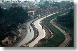 asia, horizontal, houses, landscapes, roads, vietnam, wet, photograph