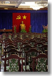 arts, asia, conference, palace, rooms, saigon, stars, statues, vertical, vietnam, photograph