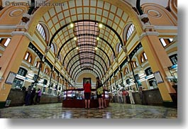 archways, asia, ceilings, hallway, horizontal, long exposure, post office, saigon, vietnam, photograph