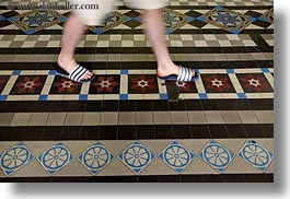 asia, feet, floors, horizontal, ornate, post office, saigon, tiles, vietnam, photograph