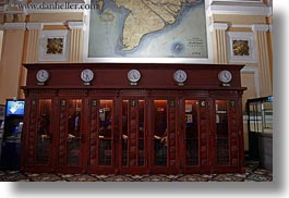 asia, booths, clocks, horizontal, phones, post office, saigon, vietnam, photograph