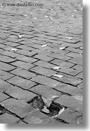 asia, black and white, bricks, broken, saigon, streets, vertical, vietnam, photograph