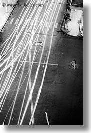 aerials, asia, black and white, buildings, cityscapes, downview, long exposure, nite, saigon, streets, structures, traffic, vertical, vietnam, photograph