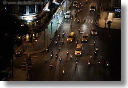aerials, asia, buildings, cityscapes, downview, horizontal, nite, saigon, streets, structures, traffic, vietnam, photograph