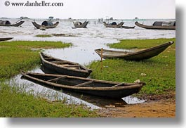 asia, boats, horizontal, vietnam, villages, water, photograph