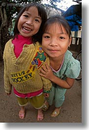 asia, asian, emotions, girls, people, smiles, vertical, vietnam, villages, photograph