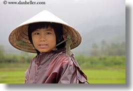 asia, asian, clothes, conical, emotions, girls, hats, horizontal, people, smiles, vietnam, villages, photograph