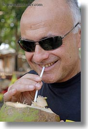 asia, coconuts, drinking, ken, ken youner, vertical, vietnam, wt people, photograph