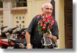 asia, horizontal, ken, ken youner, red, roses, vietnam, white, wt people, photograph