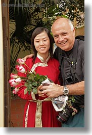 asia, ken, ken youner, red, roses, vertical, vietnam, white, womens, wt people, photograph