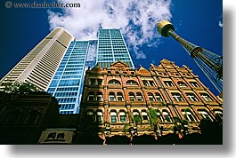 australia, buildings, clouds, horizontal, nature, sky, skyscrapers, space needle, structures, sydney, weather, photograph