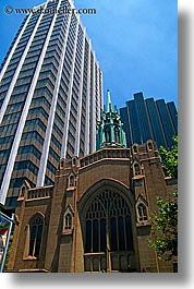 australia, buildings, churches, religious, skyscrapers, structures, sydney, vertical, photograph
