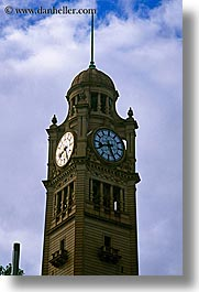 australia, buildings, clock tower, clocks, clouds, nature, sky, structures, sydney, towers, vertical, weather, photograph