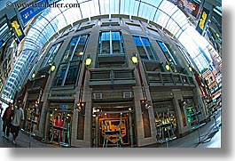 australia, buildings, enclosed, glasses, horizontal, modern, shopping, structures, style, sydney, photograph