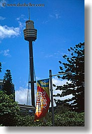australia, buildings, festival, flags, skyscrapers, space needle, structures, sydney, vertical, photograph