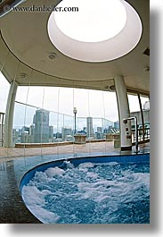 australia, buildings, hot tub, space needle, structures, sydney, vertical, water, photograph