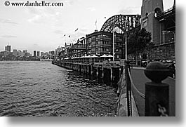 apartments, australia, black and white, buildings, horizontal, other keywords, piers, sebel, structures, sydney, water, photograph