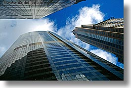 australia, buildings, clouds, horizontal, modern, nature, sky, skyscrapers, structures, style, sydney, upview, weather, windows, photograph