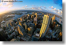 aerials, australia, buildings, cityscapes, clouds, horizontal, nature, sky, structures, sunsets, sydney, photograph