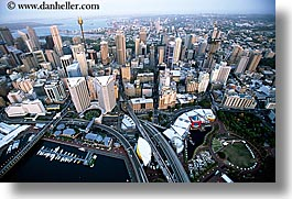 aerials, australia, buildings, cityscapes, horizontal, space needle, structures, sydney, photograph