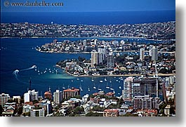 aerials, australia, buildings, cityscapes, harbor, horizontal, structures, sydney, photograph