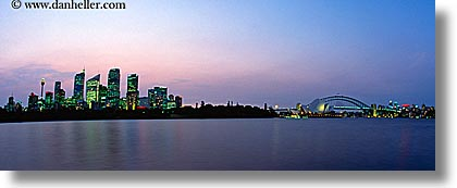 australia, buildings, cityscapes, dusk, horizontal, nite, panoramic, structures, sydney, photograph