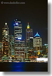 australia, buildings, cityscapes, nite, space needle, structures, sydney, vertical, photograph