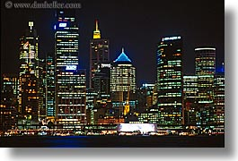 australia, buildings, cityscapes, horizontal, nite, space needle, structures, sydney, photograph