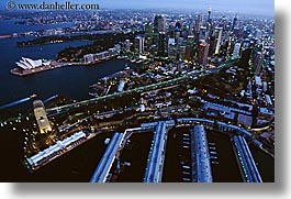 aerials, australia, buildings, cityscapes, horizontal, nite, opera house, structures, sydney, photograph