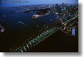 aerials, australia, bridge, buildings, cityscapes, horizontal, nite, structures, sydney, photograph