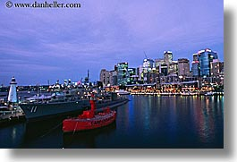 australia, boats, buildings, carpentaria, cityscapes, dusk, horizontal, nite, red, structures, sydney, photograph
