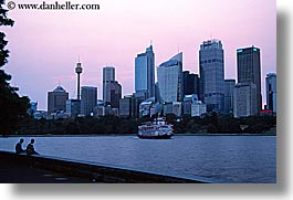 australia, buildings, cityscapes, dusk, horizontal, nite, space needle, structures, sydney, photograph