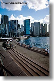 australia, buildings, cityscapes, harbor, stairs, structures, sydney, vertical, photograph