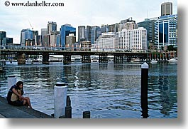 australia, buildings, cityscapes, couples, harbor, horizontal, people, structures, sydney, water, photograph
