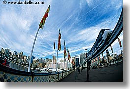 australia, buildings, cityscapes, clouds, flags, horizontal, monorail, nature, sky, structures, sydney, photograph