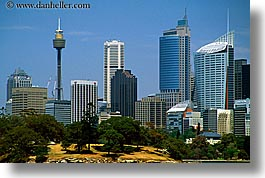 australia, buildings, cityscapes, horizontal, space needle, structures, sydney, photograph