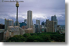 australia, buildings, cityscapes, clouds, horizontal, nature, sky, space needle, structures, sydney, photograph