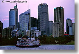 australia, boats, buildings, cityscapes, horizontal, steam boat, structures, sydney, transportation, photograph