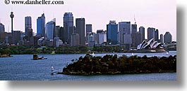 australia, buildings, cityscapes, horizontal, opera house, panoramic, space needle, structures, sydney, photograph