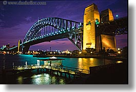 australia, bridge, cityscapes, harbor bridge, horizontal, nite, structures, sydney, photograph