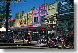australia, colorful, crowds, horizontal, manly beach, people, stores, sydney, photograph