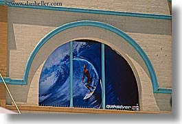 arts, australia, horizontal, manly beach, murals, paintings, surfers, sydney, photograph