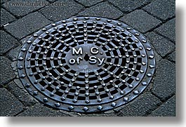 australia, beads, bricks, horizontal, irons, manholes, materials, sydney, photograph