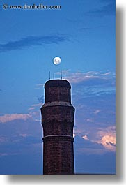 australia, buildings, dusk, moon, nature, sky, structures, sydney, towers, vertical, photograph