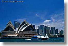 australia, boats, buildings, harbor, horizontal, nature, opera house, structures, sydney, water, photograph