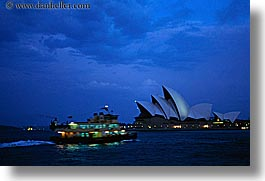 australia, boats, buildings, harbor, horizontal, nature, nite, opera house, structures, sydney, water, photograph