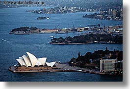 aerials, australia, buildings, harbor, horizontal, houses, nature, opena, opera house, structures, sydney, water, photograph